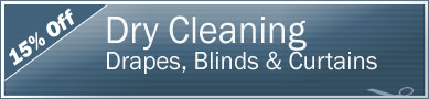 Cleaning Coupons | 15% off drapes, blinds and curtains | Tri-State Carpets